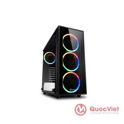 Vỏ Case Sharkoon TG4 RGB ATX Black 4fan