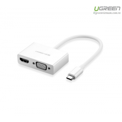 Cáp USB-C to HDMI/VGA UGREEN 30843